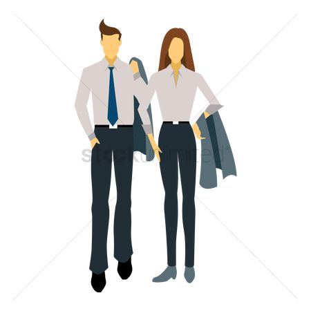 Man suit fashion : Fashionable man and woman
