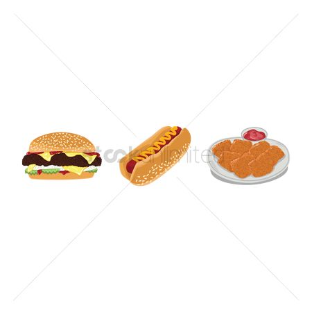 Hotdogs : Fast food set