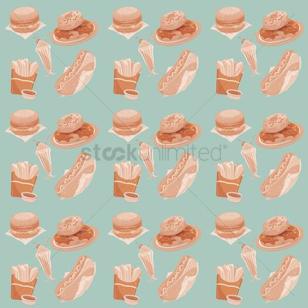 Hotdogs : Fast food theme background