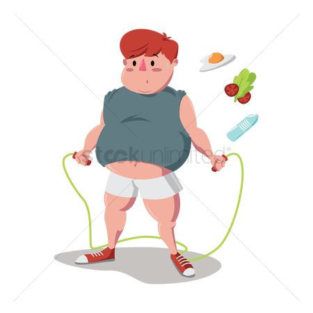 Nutritions : Fat man jumping rope