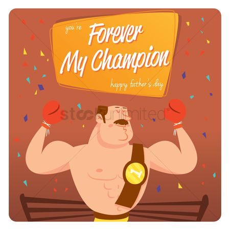 Champions : Father s day greeting design