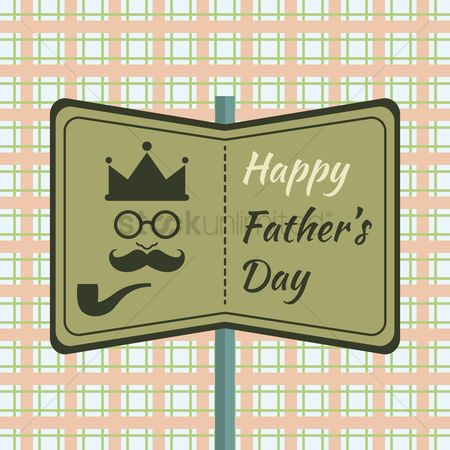 Smoking pipe : Father s day greeting design