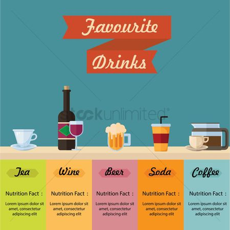 Beer : Favourite drinks infographic