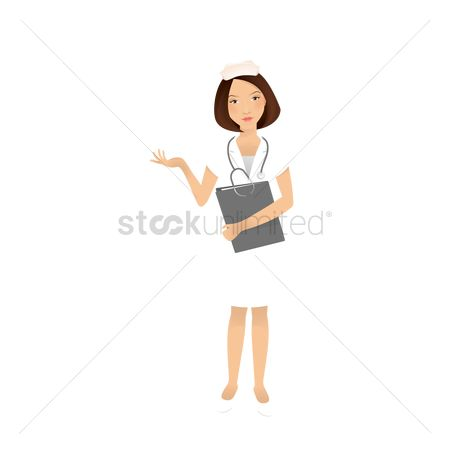 Posing : Female nurse