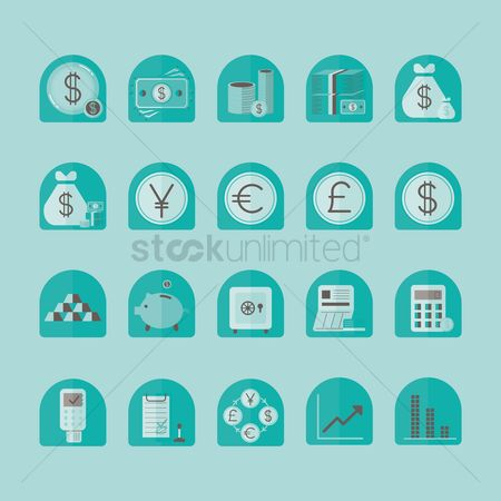 Exchanges : Finance icon set