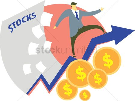 Profits : Financial stock growth concept