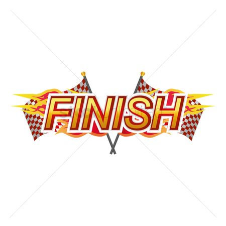 Race : Finish race sign