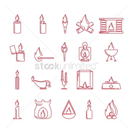 Stove : Fire related icons