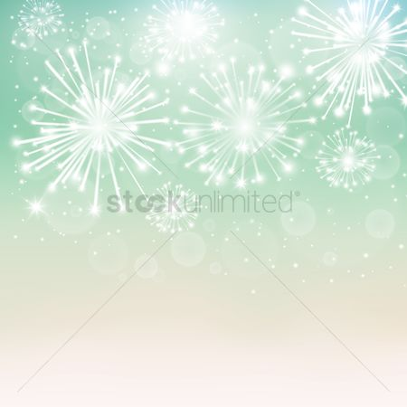 Noisy : Fireworks background design