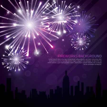 Wallpaper : Fireworks background