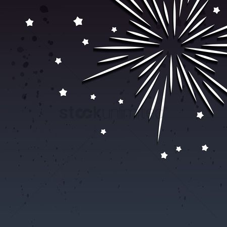 Noisy : Fireworks designed background