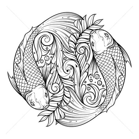 Styles : Fish swimming design