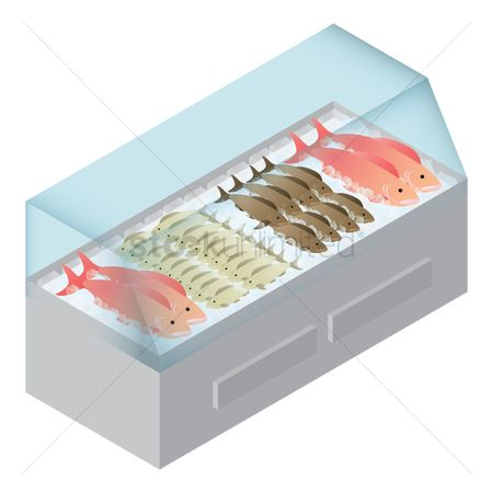 Racks : Fishes in refrigerator
