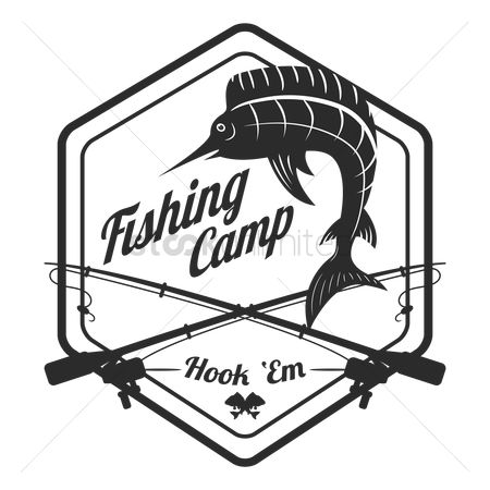 Reels : Fishing camp label