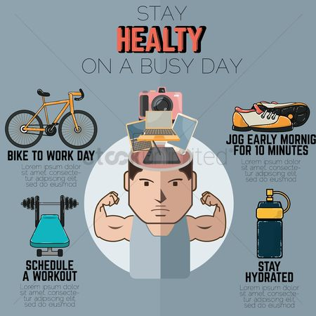 Bicycles : Fitness infographic