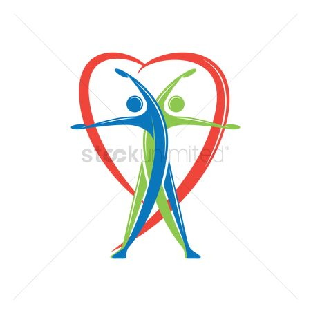 Heart shape : Fitness logo