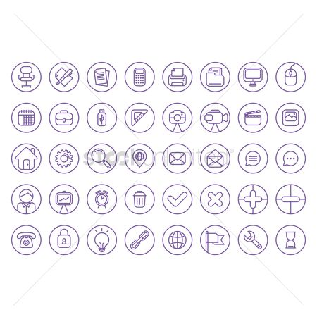 Magnifying : Flat icons