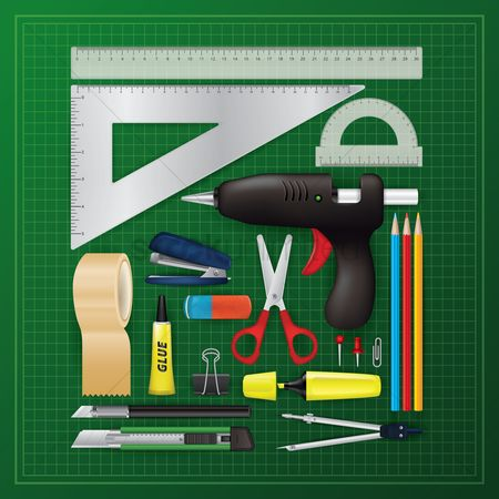 Lighter : Flatlay of tools