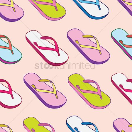 Slippers : Flip flops pattern