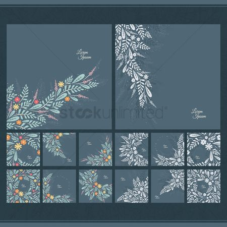 Lorem ipsum : Floral background collection