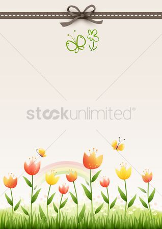Grass background : Floral background design