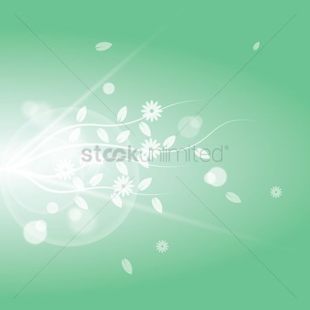 Sparkle : Floral background