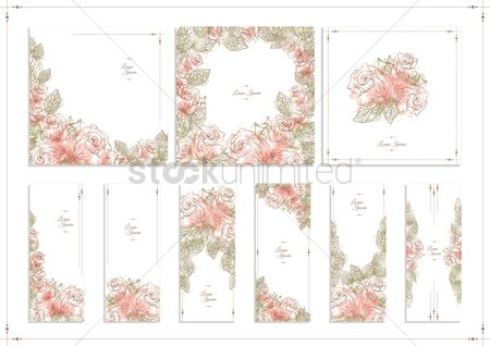 Sets : Floral background