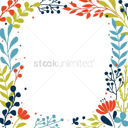 Copy spaces : Floral frame