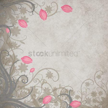 Floral : Floral grunge background