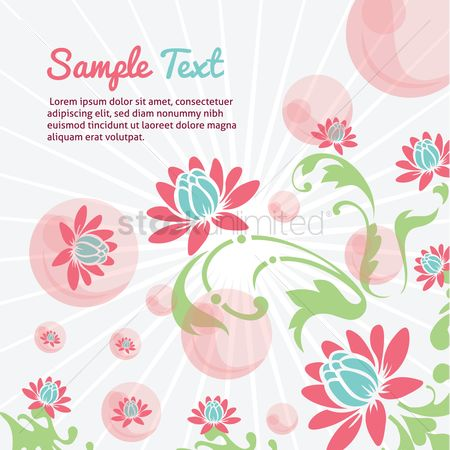 Poster : Floral layout with space for text