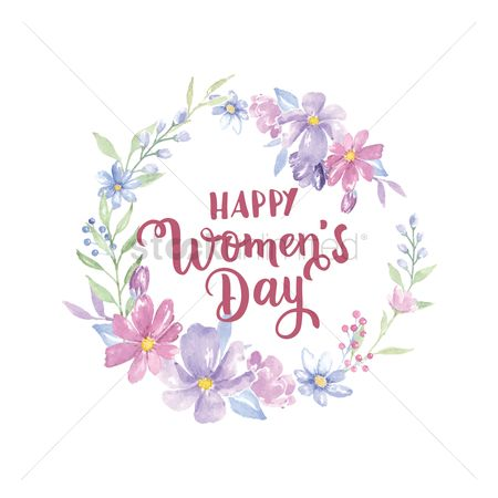 Clean : Floral women s day design