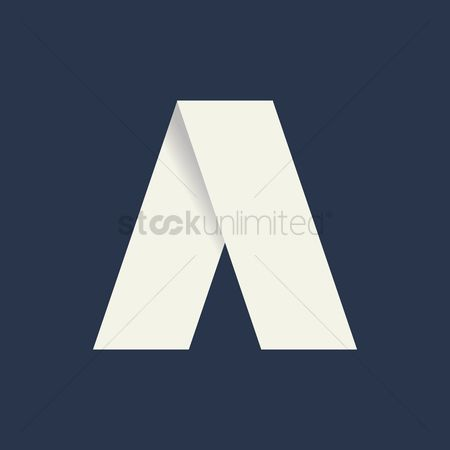 Minimalistic : Folded letter a