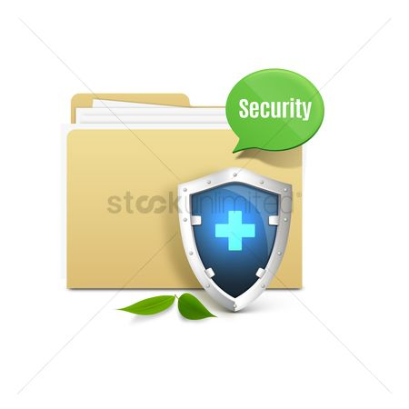 Shield : Folder with shield