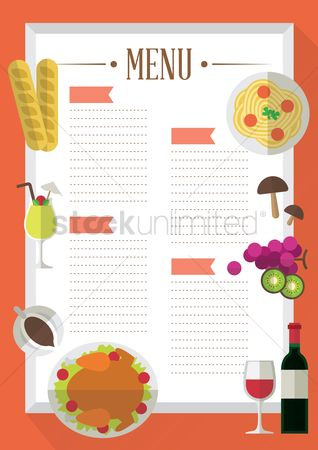 Dinner : Food menu template