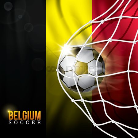 Belgium : Football in a net design