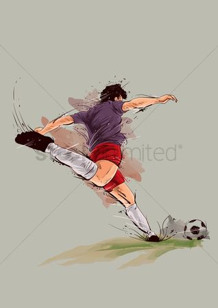 Soccer : Football player in action