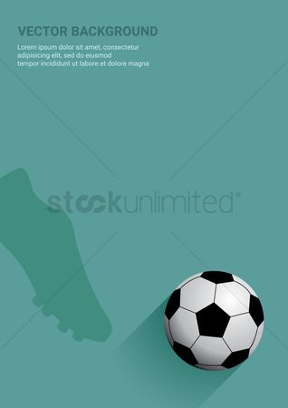 Challenges : Football vector background