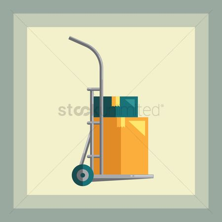 Fork lift : Fork lift with load
