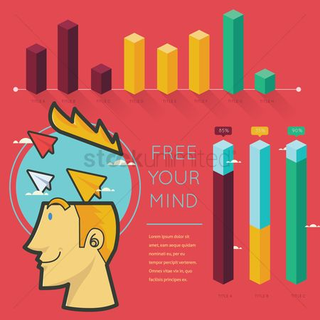 Vectors : Free your mind infographic