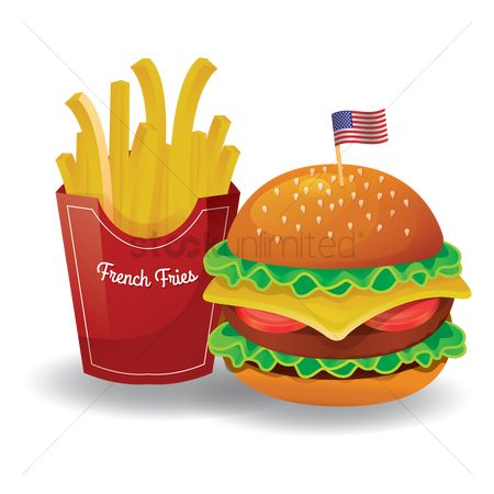 French fries : French fries with burger