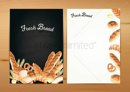 Croissant : Fresh bread flyer template