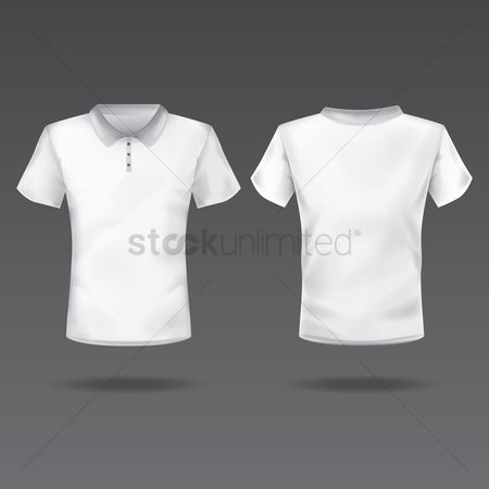 Fashions : Front and back view of men s t-shirt