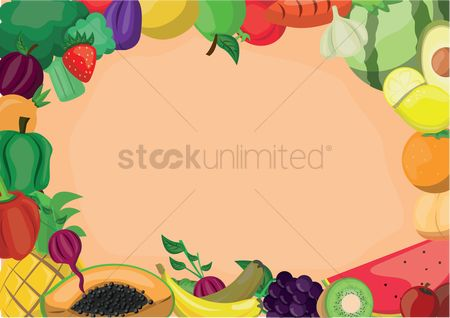 Grapes : Fruit design background