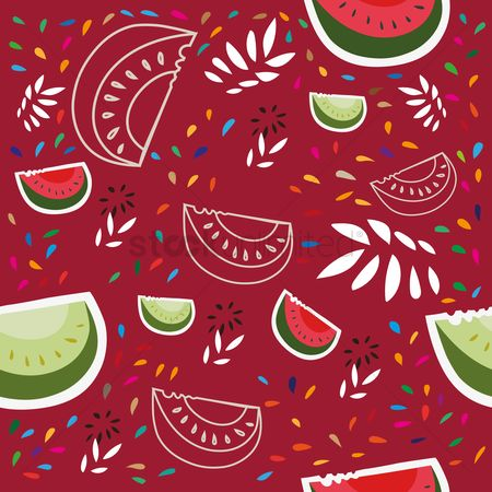 Watermelon slice : Fruit pattern design