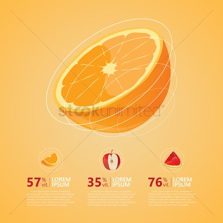 Watermelon slice : Fruits infographic