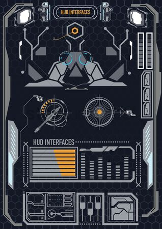 User interface : Futuristic graphic user interface