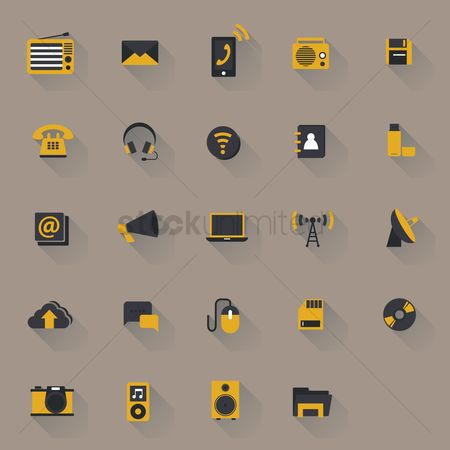 Address : Gadgets and technology icons