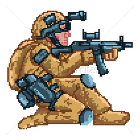Soldiers : Game soldier character