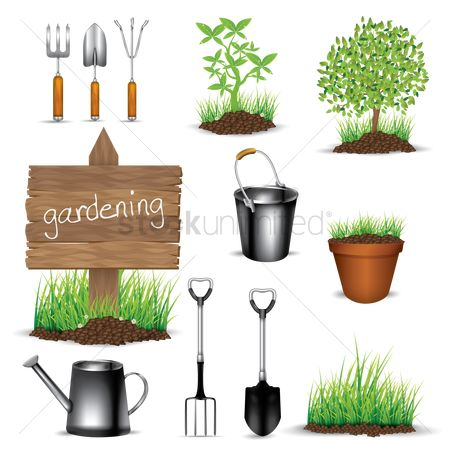 Wooden sign : Gardening collection