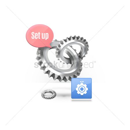 Setting icon : Gears with setting icon